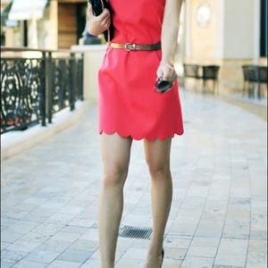 Hot pink scalloped J Crew Dress